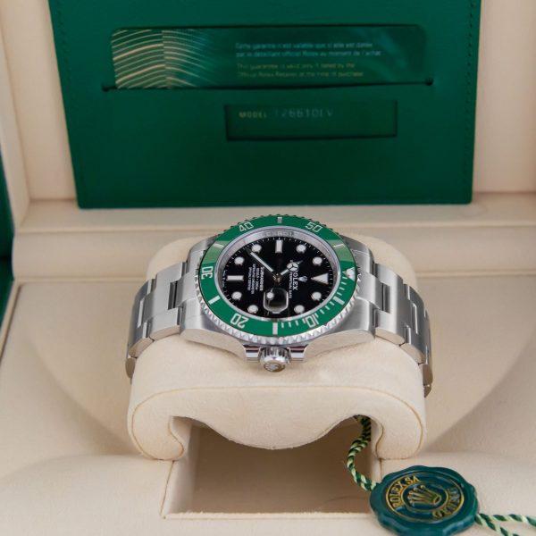 Rolex Submariner 126610LV Часы унисекс с черным циферблатом 41 мм