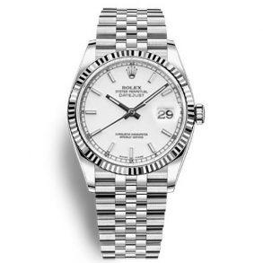 Rolex Datejust 116234 Replica Женские часы с белым циферблатом 36 мм